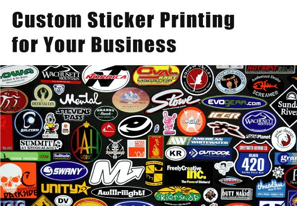 Printing custom stickers for your business